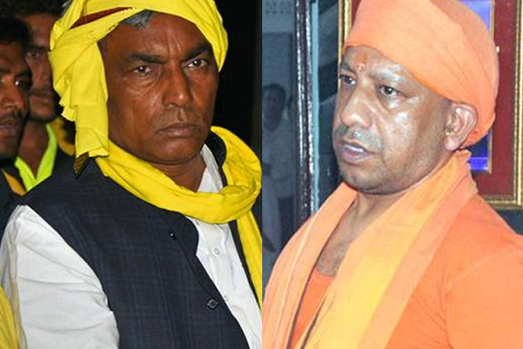 Om Prakash Rajbhar and Yogi Adityanath | Facebook- India TV Hindi