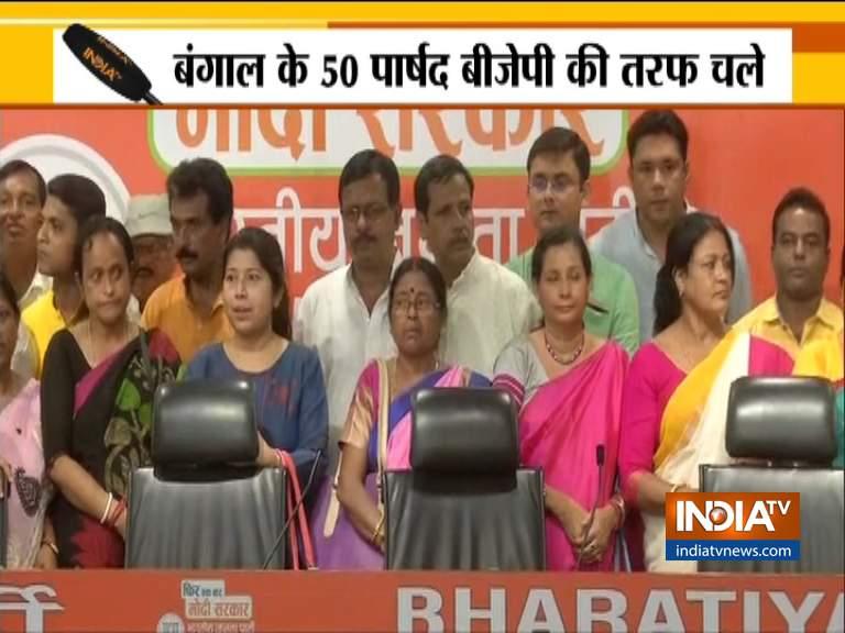 बंगाल के 3 विधायक और 50 पार्षद BJP में शामिल, TMC को बड़ा झटका- India TV Hindi