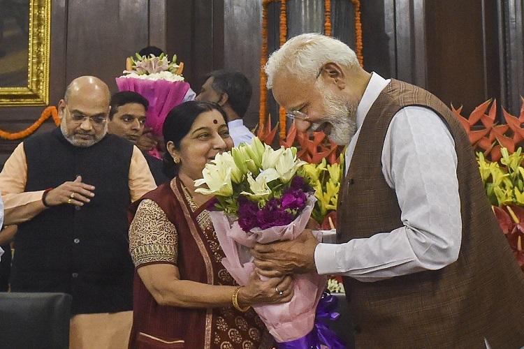Prime Minister Narendra Modi and Sushma Swaraj (File...- India TV Hindi