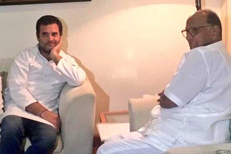 Rahul Gandhi and Sharad Pawar- India TV Hindi