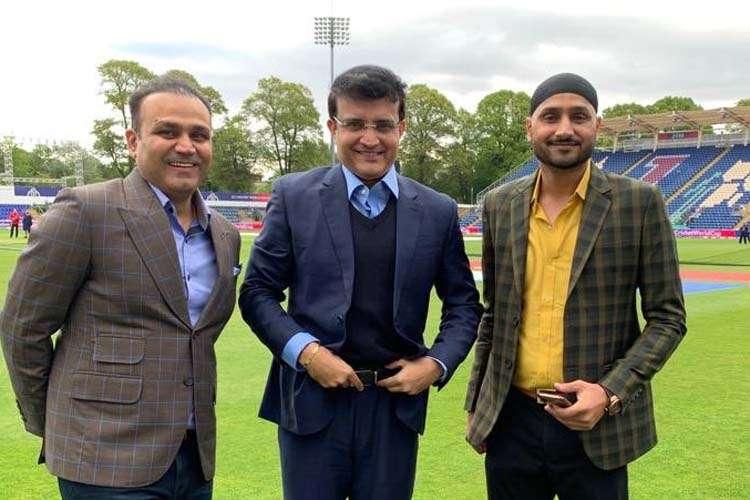 Virender Sehwag,  Sourav Ganguly, and Harbhajan Singh- India TV Hindi