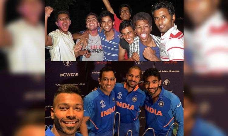 Hardik pandya childhood photo to celebreate team india victory of world cup 2011 - India TV Hindi