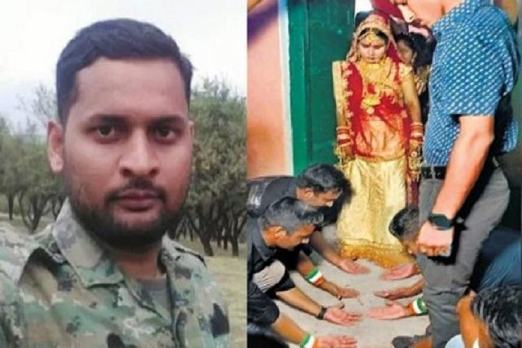 Fellow soldiers joined martyr commando nirala sister...- India TV Hindi