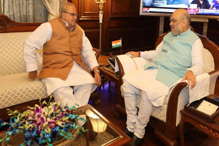 Governor Satyapal Malik submit 3 page report on Jammu Kashmir to home minister Amit Shah- India TV Hindi