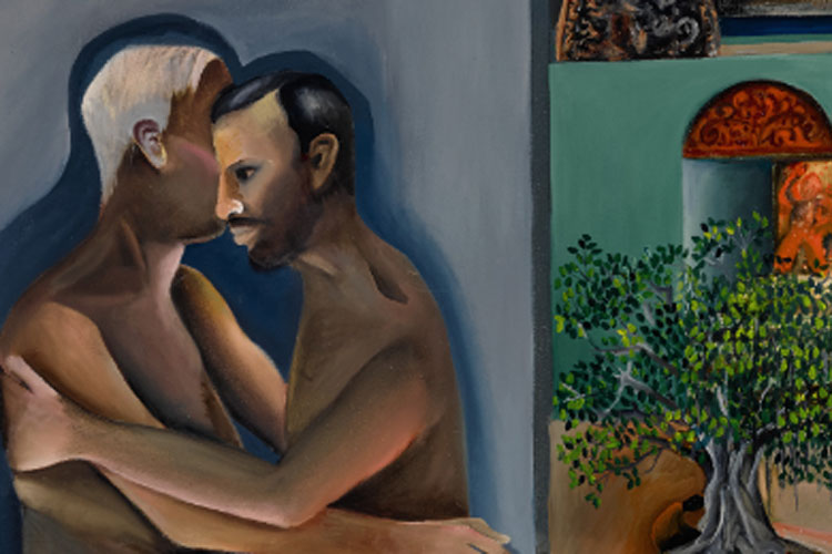 Bhupen Khakhar 1980s painting Two Men in Benares homosexuality on breaks record- India TV Hindi