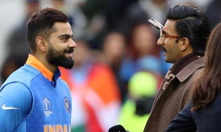 Ranveer Singh hugs Virat Kohli - India TV Hindi