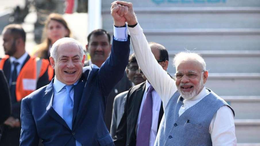 Benjamin Netanyahu with Narendra Modi- India TV Hindi