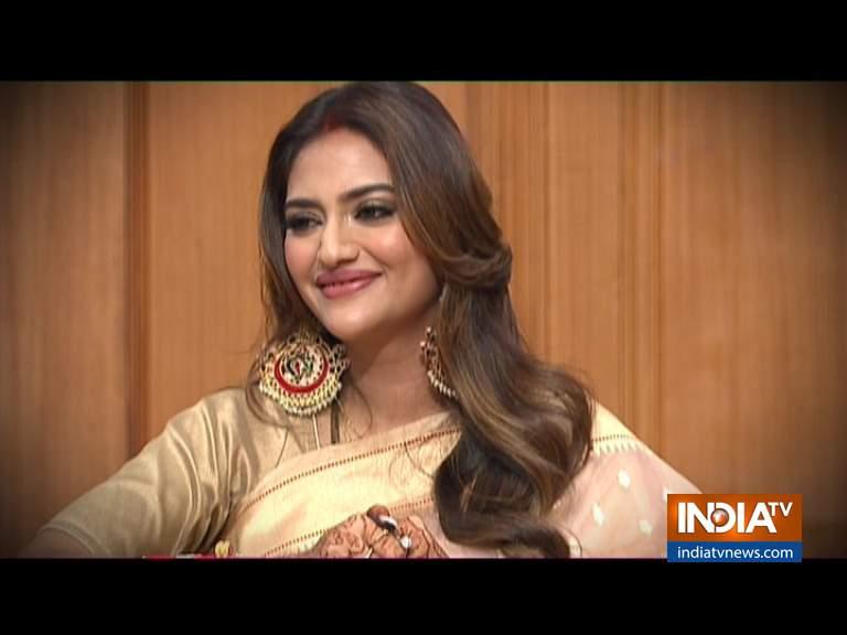 Nusrat jahan in Rajat Sharma Show Aap ki Adalat - India TV Hindi