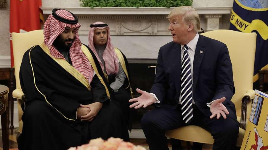 President Donald Trump with Saudi Crown Prince Mohammed bin Salman   AP File- India TV Hindi