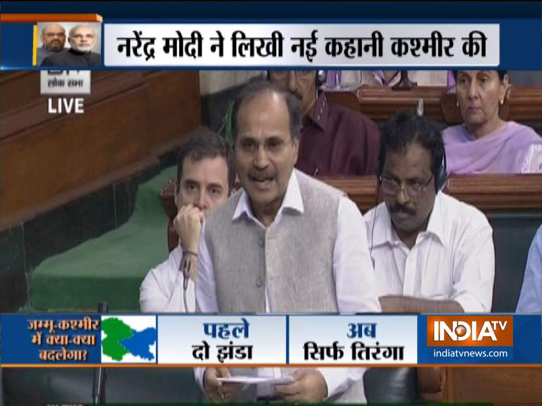 Kashmir Issue is being monitored since 1948 by the UN says Adhir Ranjan Chowdhury of Congress- India TV Hindi
