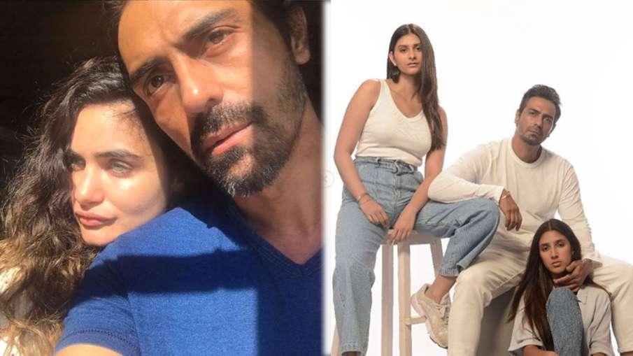 गर्लफ्रेंड गैब्रिएला और बेटियों संग अर्जुन रामपाल- India TV Hindi