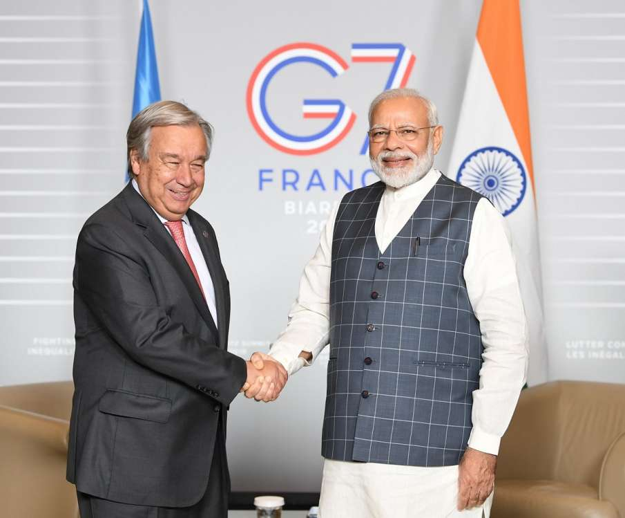 Prime Minister Narendra Modi meets António...- India TV Hindi