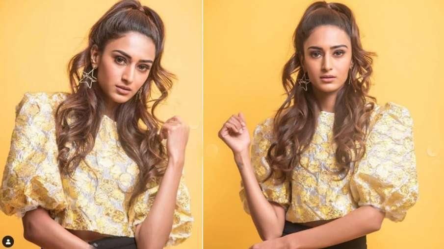 kasauti zindagi ki 2 actress erica fernandes looking hot in tellow crop top see photos- India TV Hindi