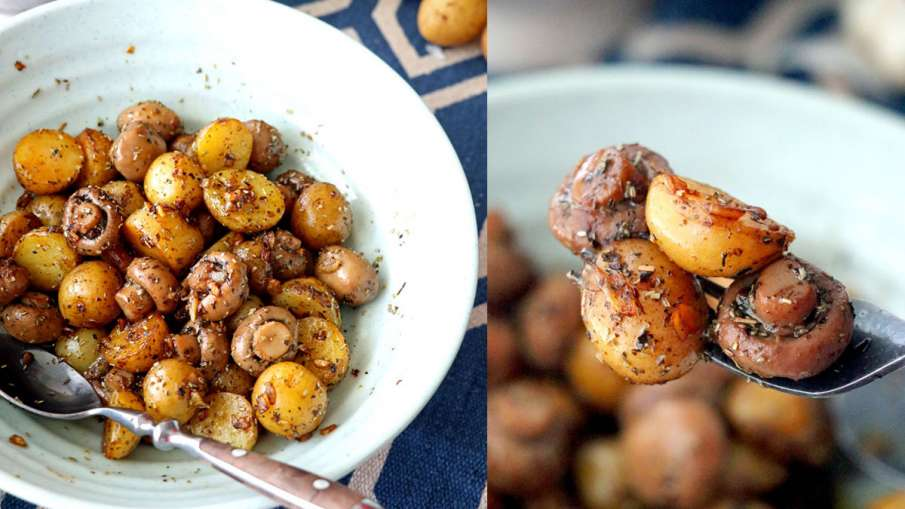 Pan Roasted Garlic Mushroom and Baby Potatoes- India TV Hindi