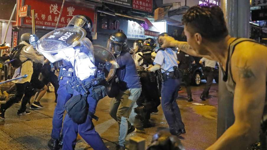 Hong Kong police arrest 36, youngest aged 12, after violent protests   AP- India TV Hindi