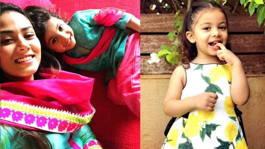 बेटी मीशा के साथ मीरा राजपूत- India TV Hindi