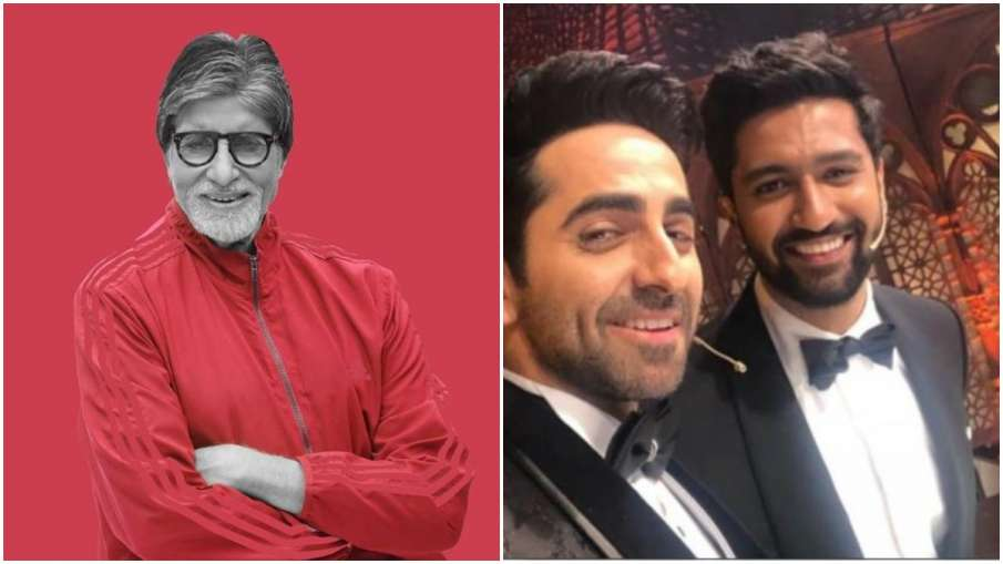 Amitabh bachchan, vicky kaushal and Ayushmann khurrana- India TV Hindi