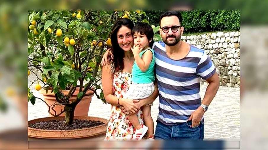 Saif Ali Khan with Kareena Kapoor and Taimur- India TV Hindi
