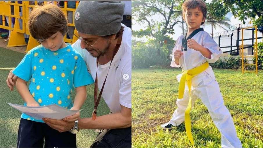 Shah rukh khan and abram- India TV Hindi