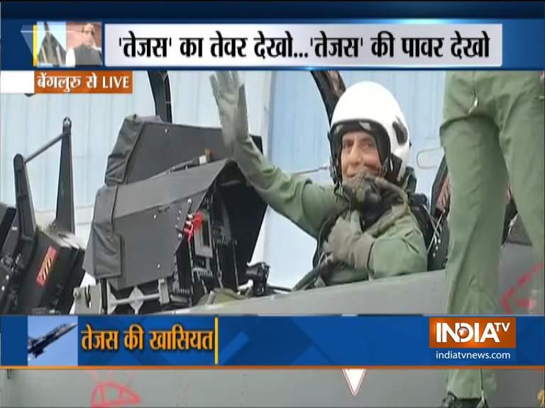 Rajnath Singh in Tejas- India TV Hindi