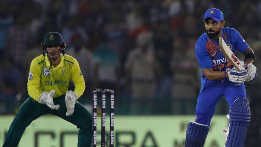 मोहाली टी-20 : डी कॉक के अर्धशतक पर कोहली की पारी ने फेरा पानी, 7 विकेट से जीता भारत- India TV Hindi