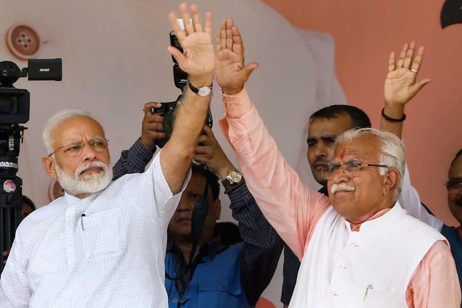 Manohar Lal Khattar claims victory on 75 seats- India TV Hindi