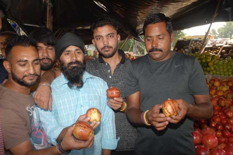 'Azadi', 'Burhan Wani' written on apples from Kashmir;...- India TV Hindi