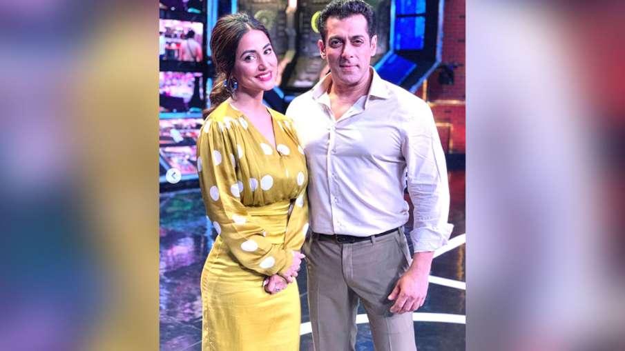 Hina Khan with Salman Khan- India TV Hindi