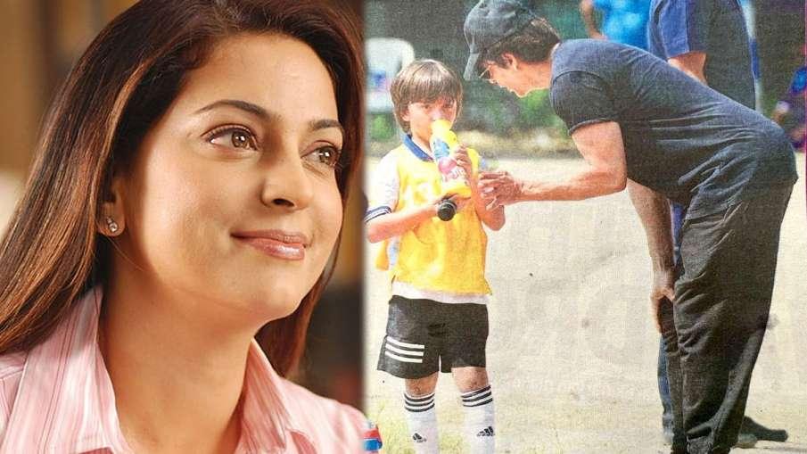जूही चावला, अबराम और शाहरुख खान- India TV Hindi