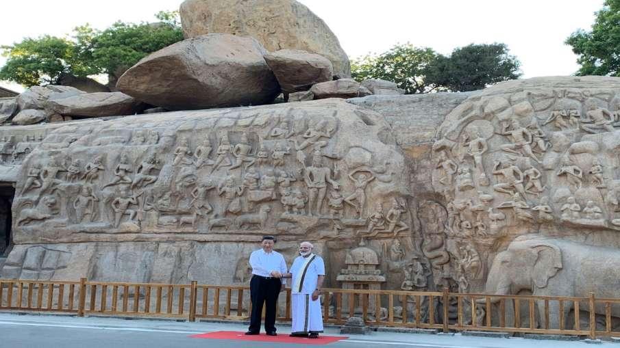 PM Narendra Modi with President Xi Jinping at Arjuna's...- India TV Hindi