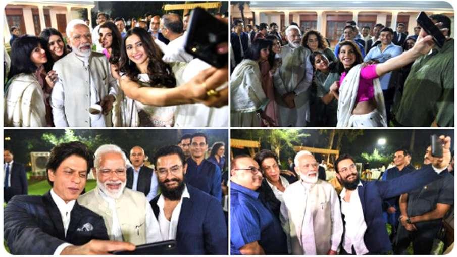 फिल्मी हस्तियों से मिले प्रधानमंत्री नरेंद्र मोदी- India TV Hindi