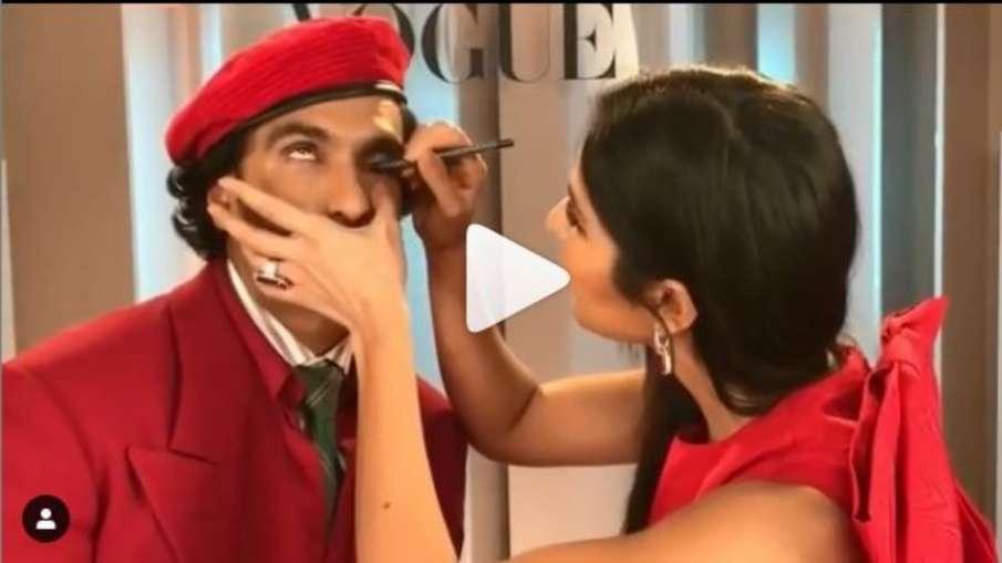 Katrina kaif apply kajal to ranveer singh- India TV Hindi