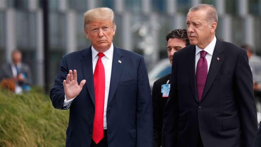 अमेरिका ने दी तुर्की पर प्रतिबंध लगाने की धमकी, एर्दोआन ने कहा-नहीं रोकेंगे सीरिया में कार्रवाई- India TV Hindi