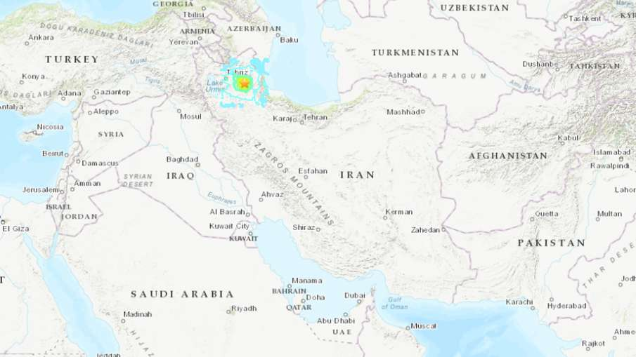Deadly magnitude 5.9 earthquake hits northwestern Iran, 5 dead | USGS- India TV Hindi