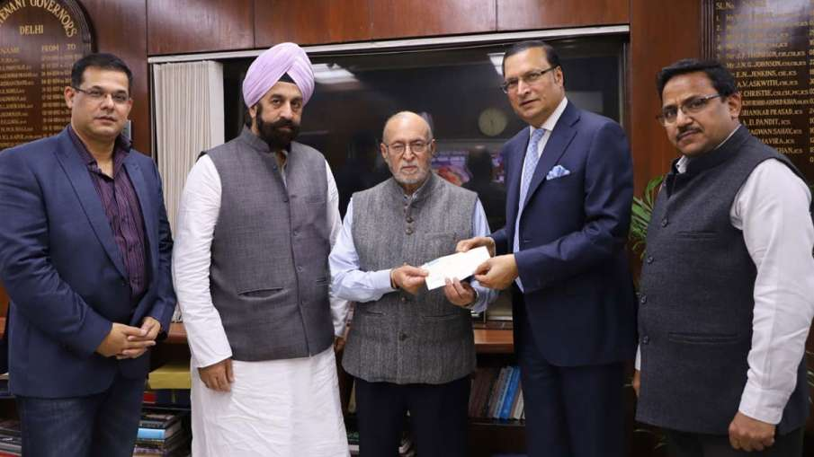 DDCA President Rajat Sharma meets Lt Governor of Delhi Anil Baijal along with Govt nominated DDCA Di- India TV Hindi
