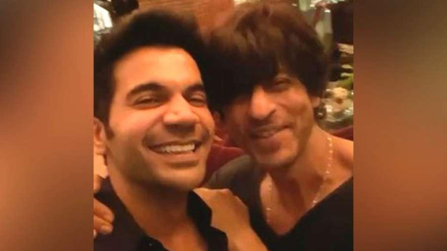 Rajkummar Rao fanboy moment with SRK- India TV Hindi