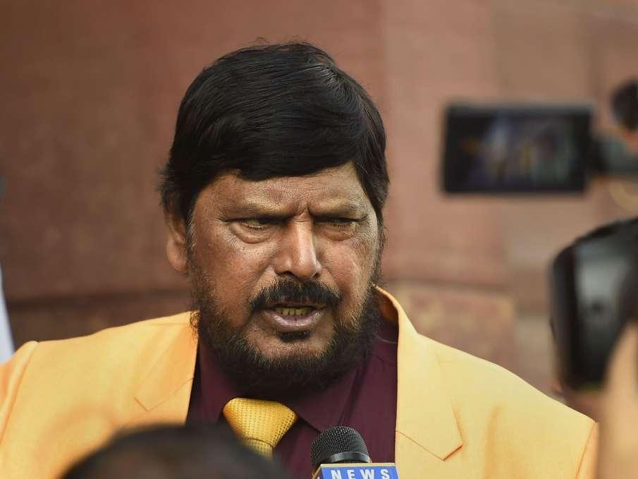 Union Minister Ramdas Athawale speaks to media on the...- India TV Hindi