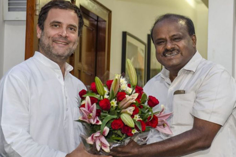 Rahul Gandhi and Kumaraswamy (File photo)- India TV Hindi