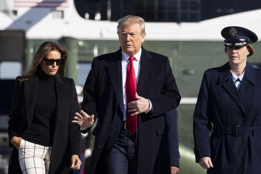 President Donald Trump, with first lady Melania Trump- India TV Hindi
