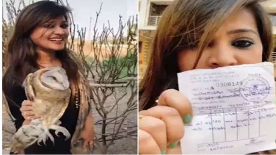 girl penalized for making video with owl - India TV Hindi