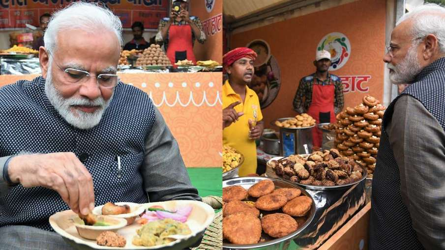 Narendra Modi, Narendra Modi litti-chokha, Narendra Modi Hunar Haat, BJP leaders litti-chokha- India TV Hindi