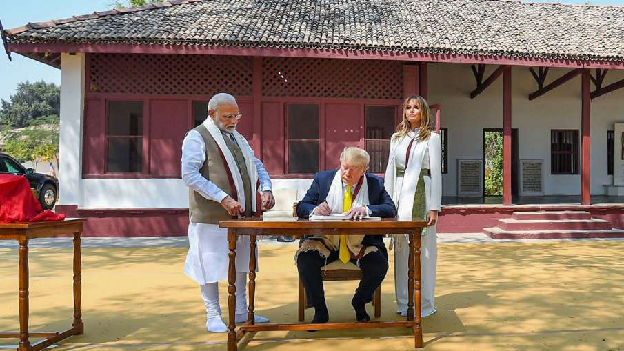 US Prez, First Lady skip food during Sabarmati Ashram...- India TV Hindi