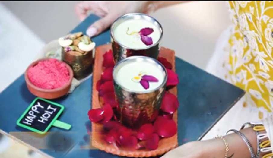 almond milk thandai , holi, shilpa shetty- India TV Hindi