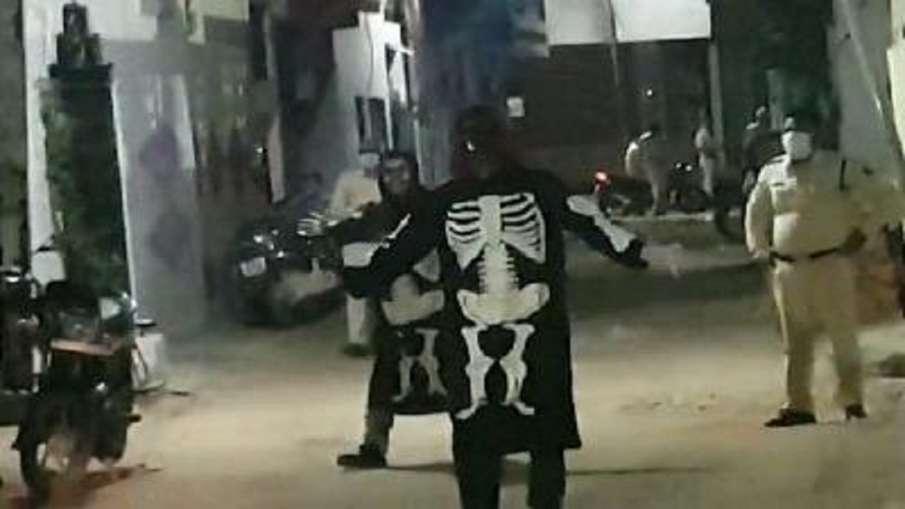 Indore police resort ghost to keep people warn against coronavirus - India TV Hindi