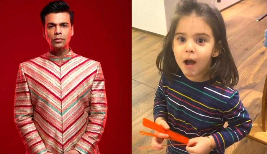Karan johar and daughter roohi video- India TV Hindi