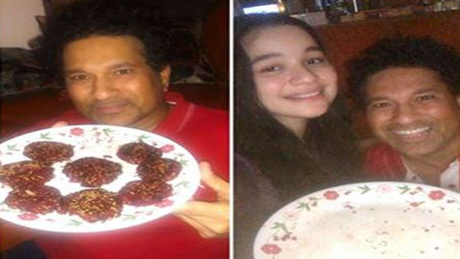 Sachin Tendulkar finishes 'beet kabav' made by daughter, finished in 60 seconds- India TV Hindi