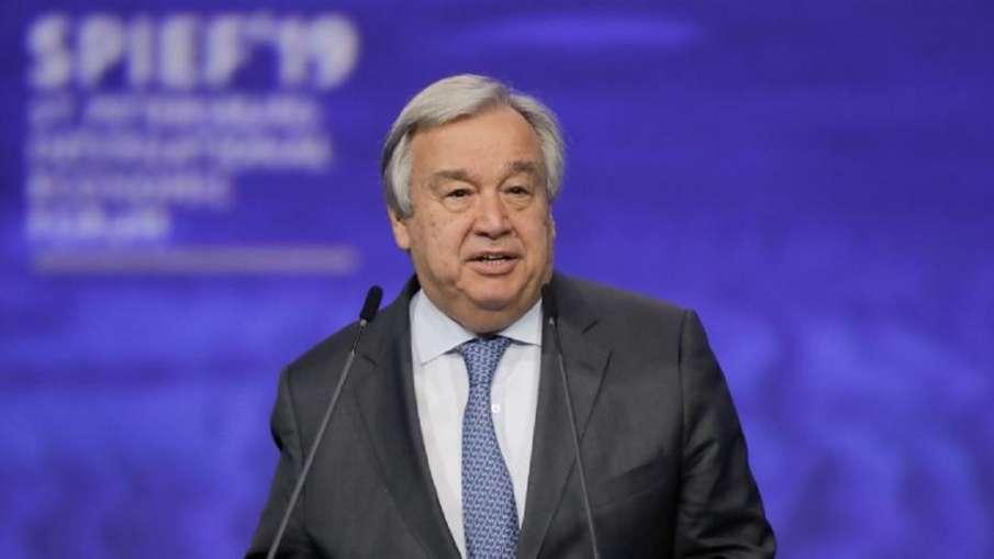 United Nations Secretary-General Antonio Guterres- India TV Hindi