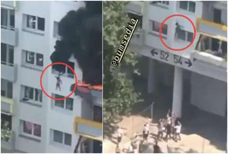 Brothers Jump 40 Feet From Burning Building- India TV Hindi