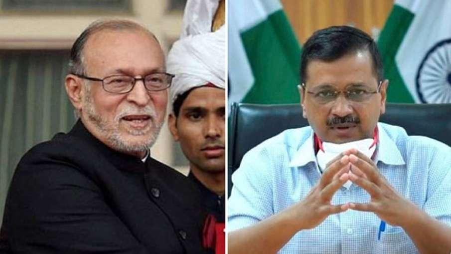 Delhi Lt Governor Anil Baijal (left); CM Arvind Kejriwal- India TV Hindi