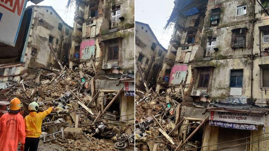 Mumbai building collapses, some people feared buried मुंबई में गिरा इमारत का एक हिस्सा, कुछ लोगों के- India TV Hindi
